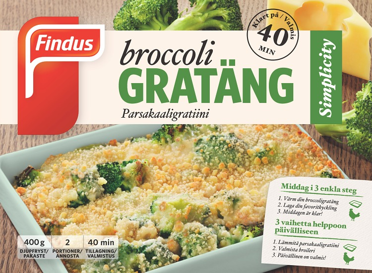 Findus Broccoligratäng förpackning