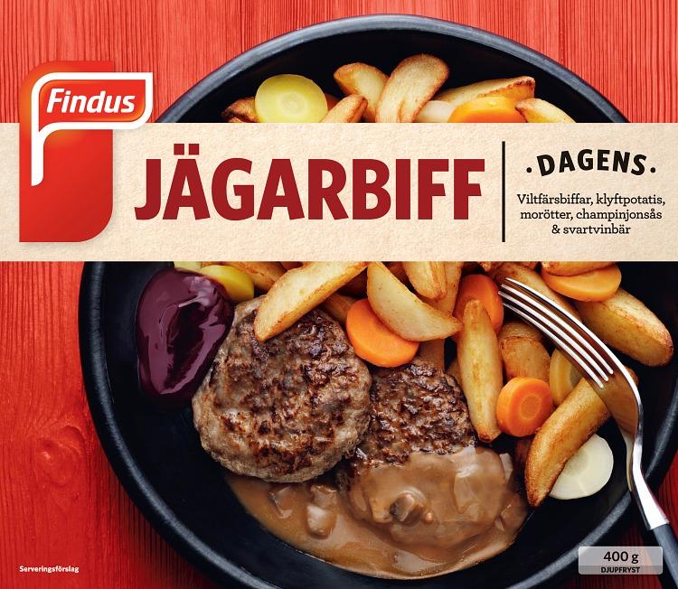 Findus Jägarbiff förpackning