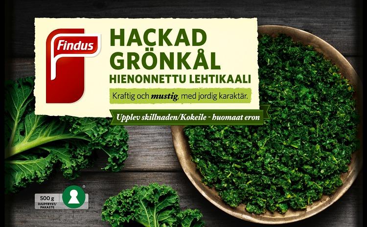 Findus Hackad grönkål förpackning