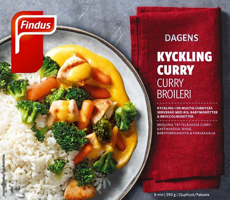 Dagens kyckling curry förpackning findus