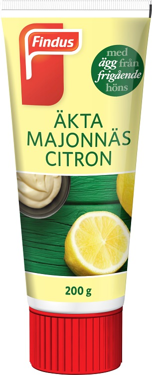 Förpackning Findus Äkta majonnäs citron tub