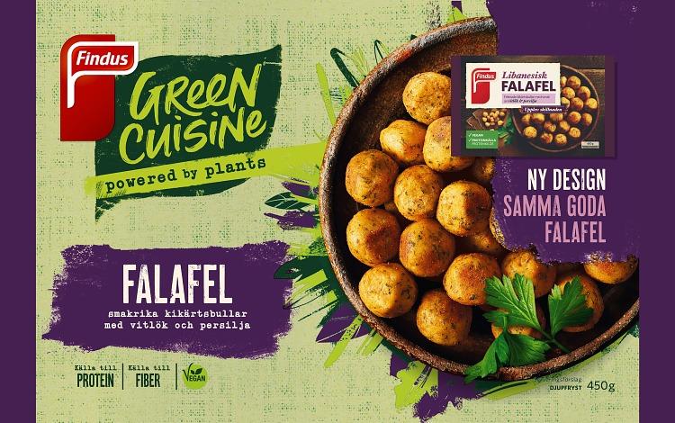 Förpackning Findus libanesisk falafel