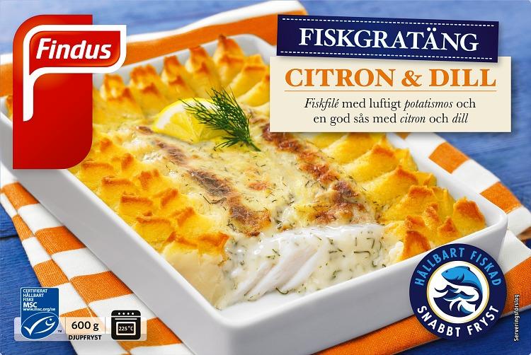 Förpackning Findus Citron & Dill