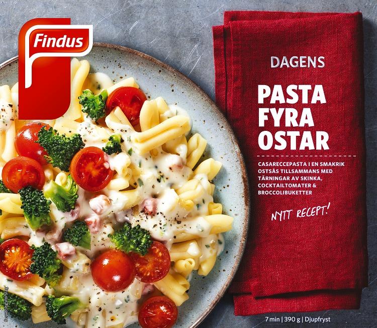 Dagens pasta fyra ostar förpackning findus