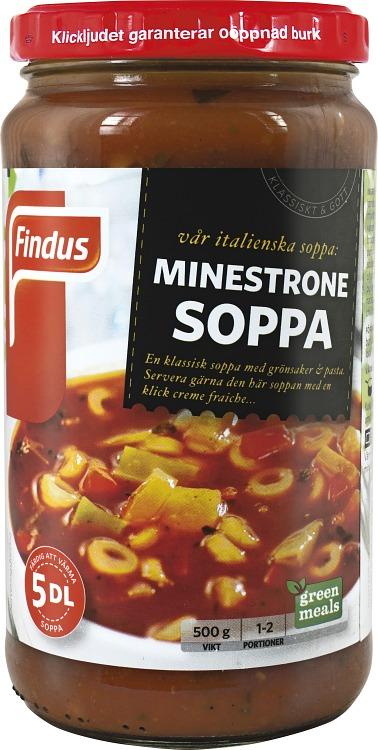 förpackningsomslag minestrone soppa