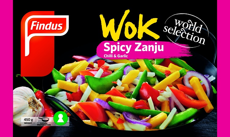 förpackningsomslag wok spicy zanju i påse
