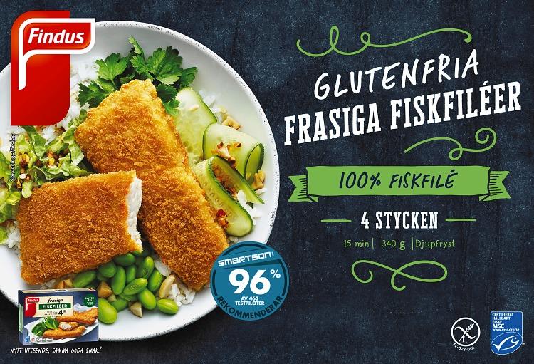 Förpackning Findus Glutenfria frasiga fiskfiléer