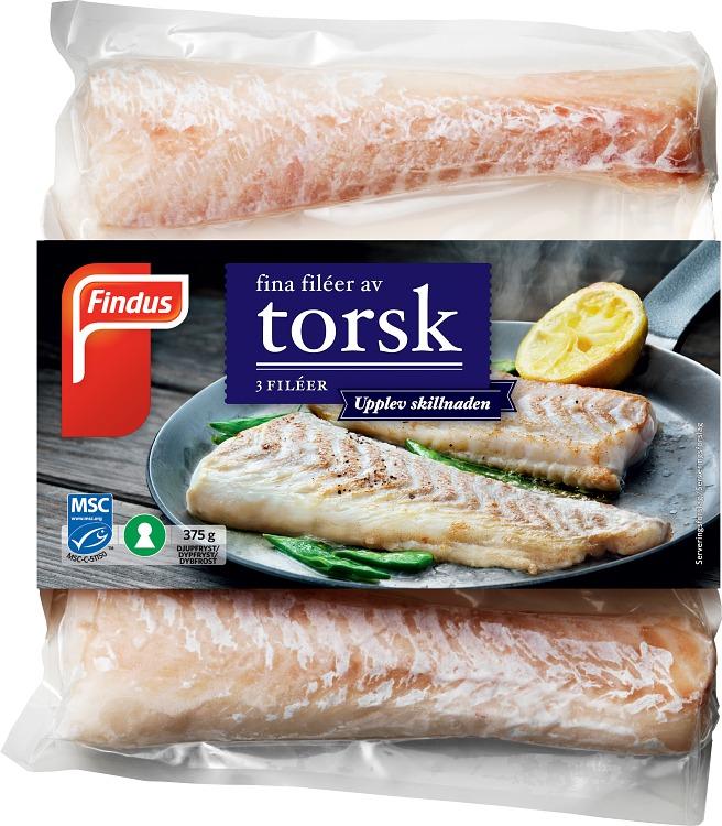 förpackningsomslag torskfileer
