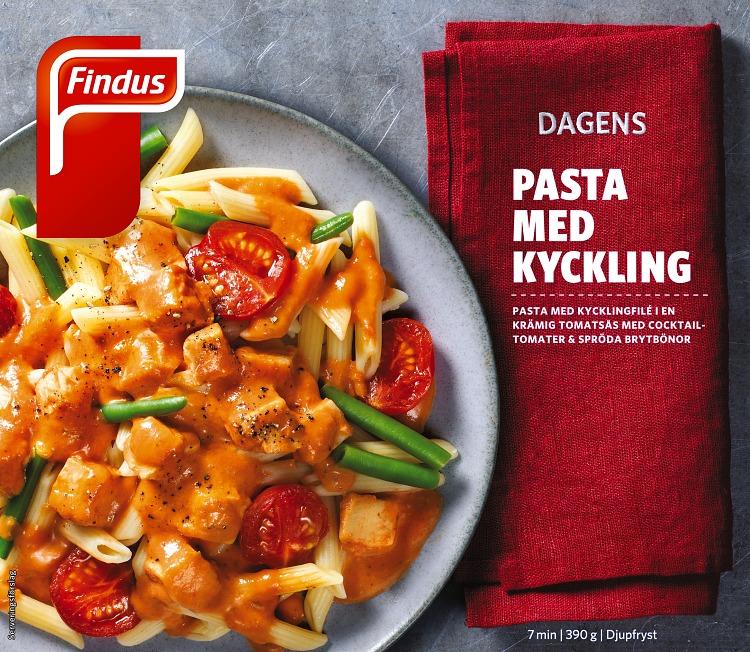 Dagens pasta med kyckling förpackning findus