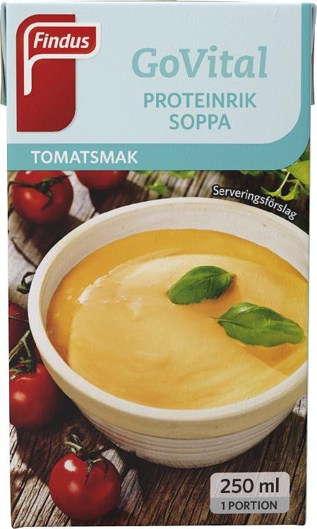 portionsförpackning proteinrik soppa tomat