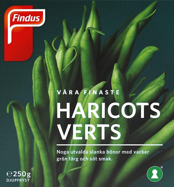 Förpackning Findus Våra finaste haricots verts