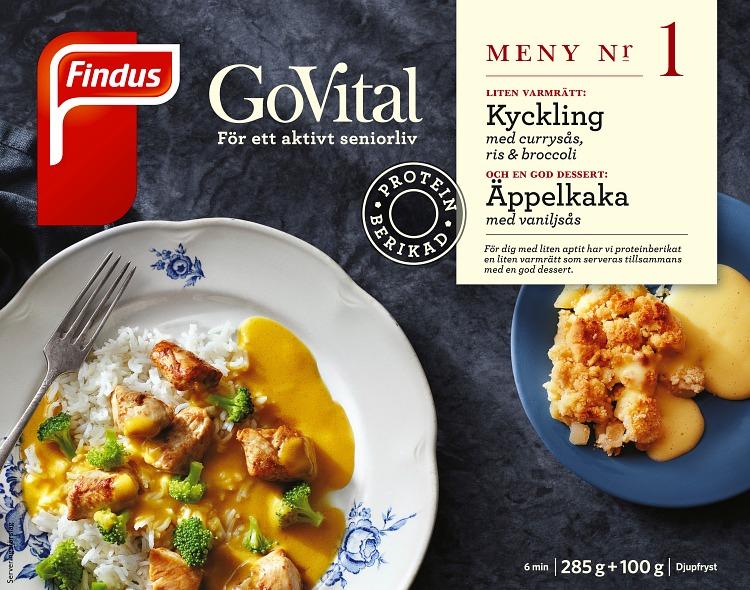 Förpackning Findus GoVital Kyckling med currysås