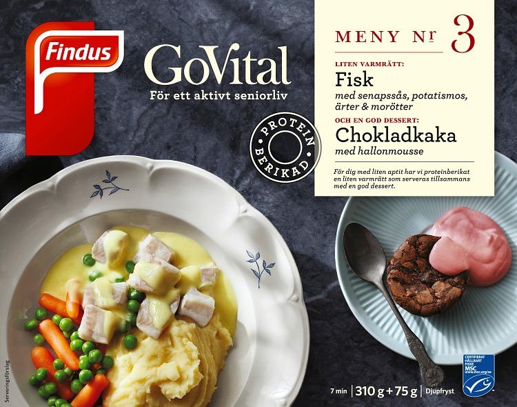 Förpackning Findus GoVital Fisk med senapssås