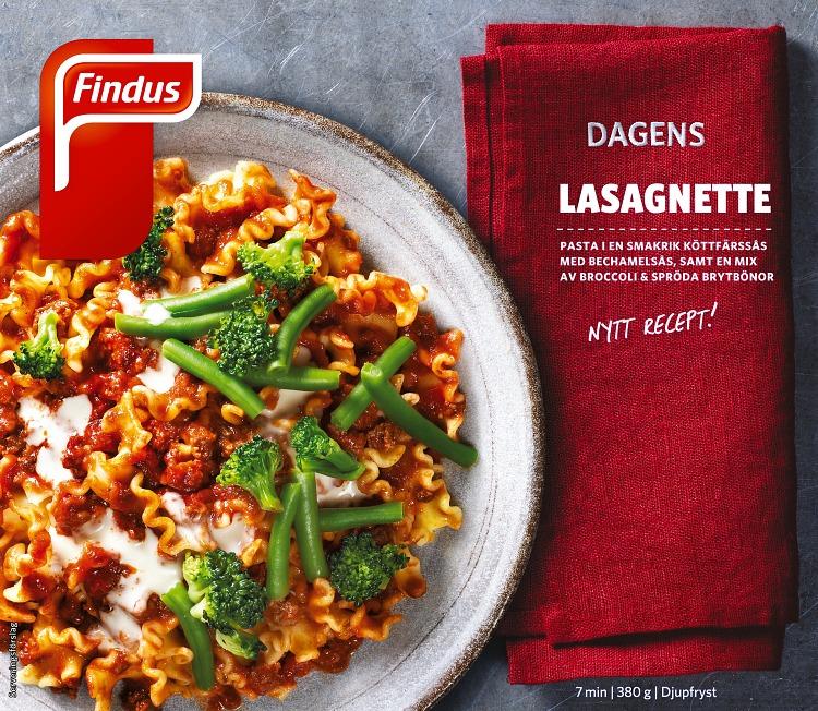 Dagens lasagnette förpackning findus