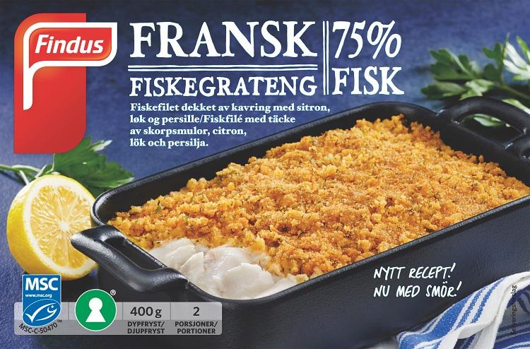 portionsförpackning fransk fiskegratäng