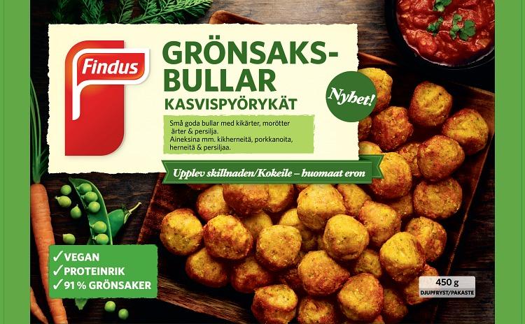 Förpackning Findus Grönsaksbullar