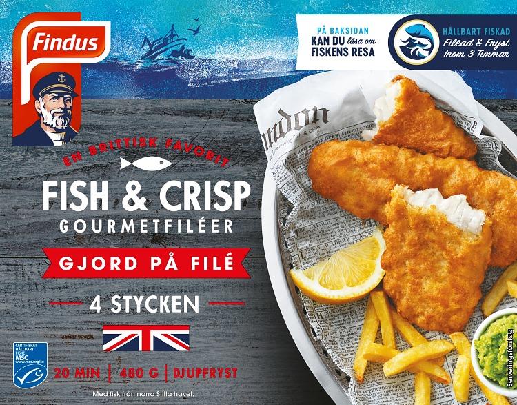 Förpackning Findus Fish and Crisp