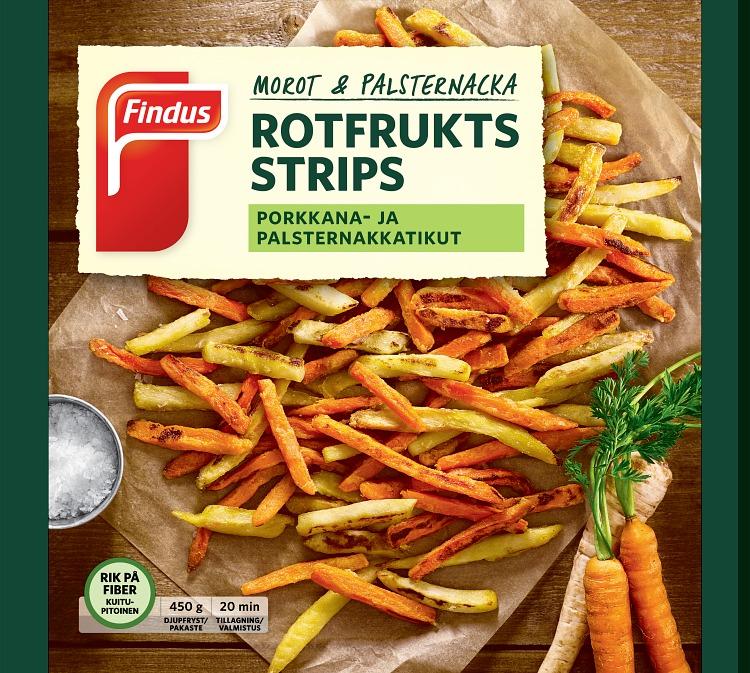 Förpackning Findus Rotfrukts strips