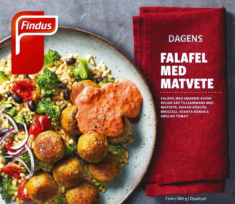Förpackning Findus Falafel med matvete