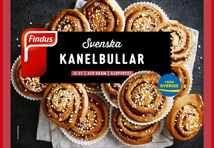 Förpackning Findus Svenska kanelbullar
