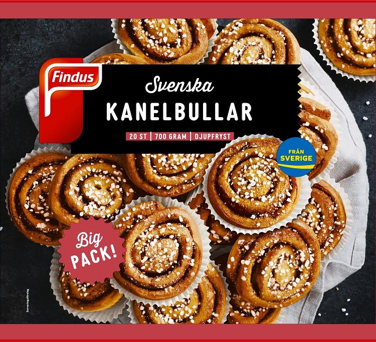 Förpackning Findus Svenska kanelbullar bigpack