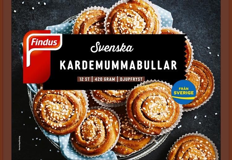 Förpackning Findus Svenska kardemummabullar