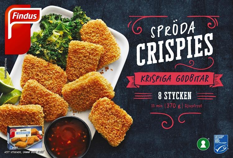 Förpackning Findus Spröda crispies