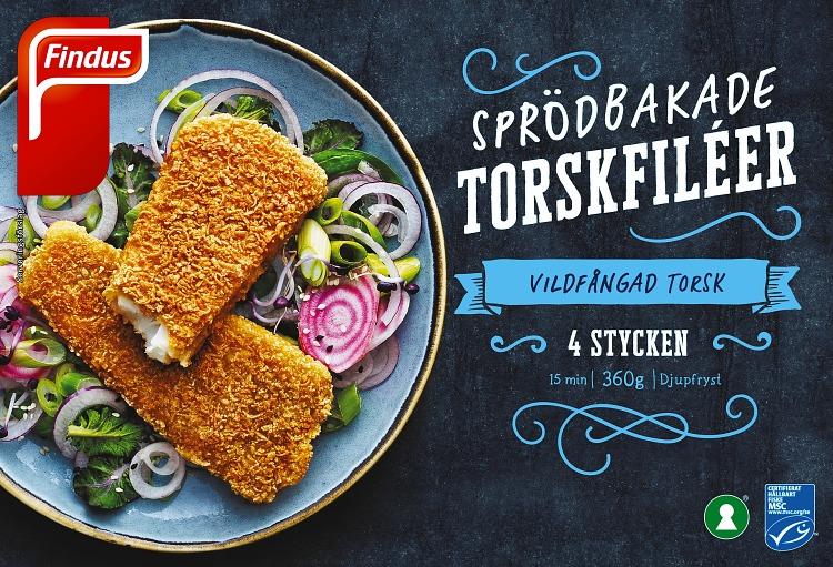 Förpackning Findus Sprödbakade torskfiléer