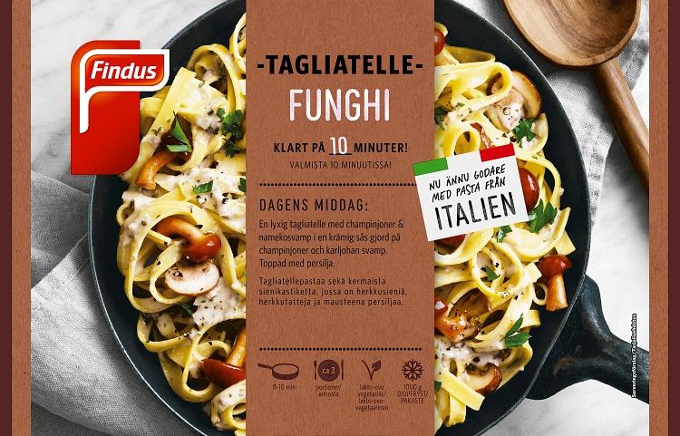 Förpackning Findus Tagliatelle