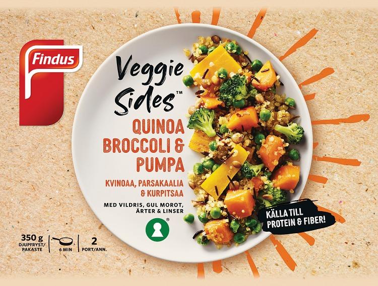 Förpackning Findus Veggies sides quinoa , broccoli & pumpa