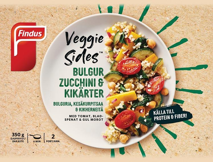 Förpackning Findus Veggies sides bulgur, zucchini & kikärter