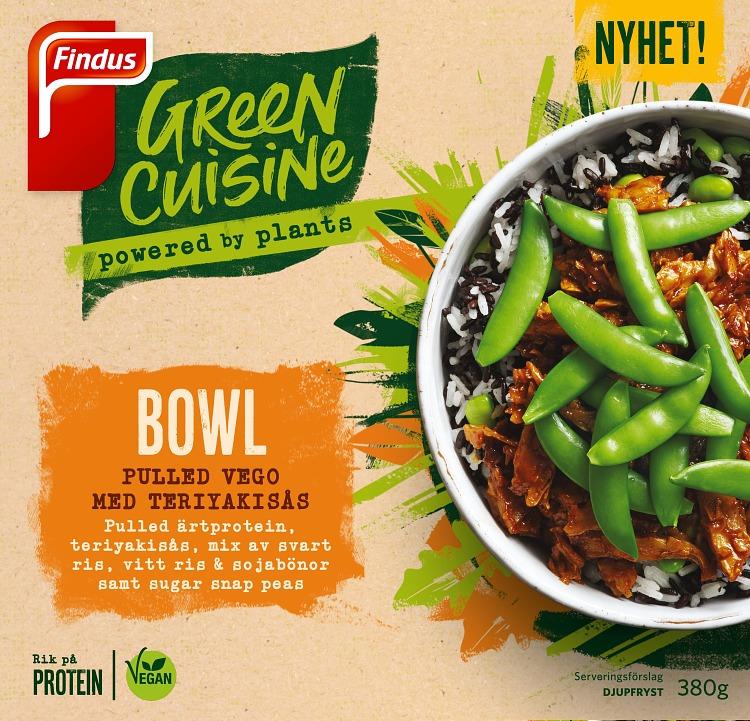 Pease bowl vegansk pulled pease med teriyakisås förpackning findus