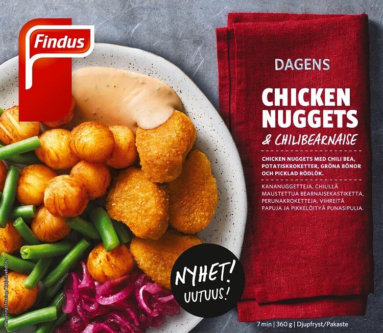 Förpackning Findus Dagens Chicken Nuggets & chilibearnaise