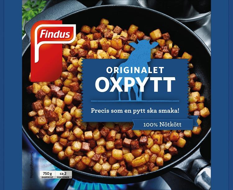 Förpackning Findus Oxpytt 750g