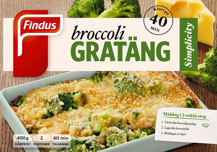 Förpackning Findus Broccoligratäng
