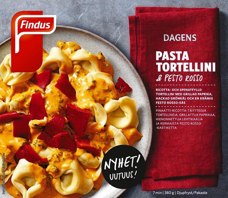 Förpackning Dagens Pasta Tortellini & pesto rosso