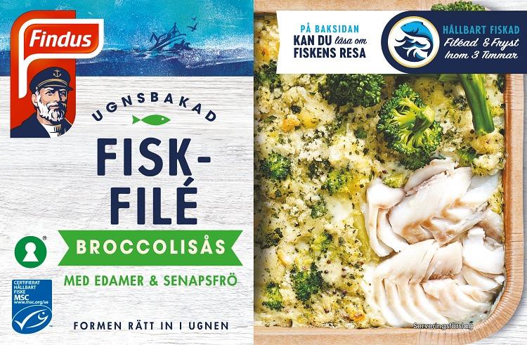 Förpackning Ugnsbakad fiskfilé Broccolisås