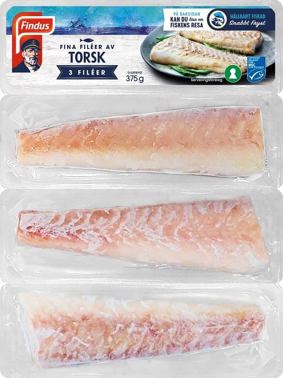Fina Fileer av fisk med msc