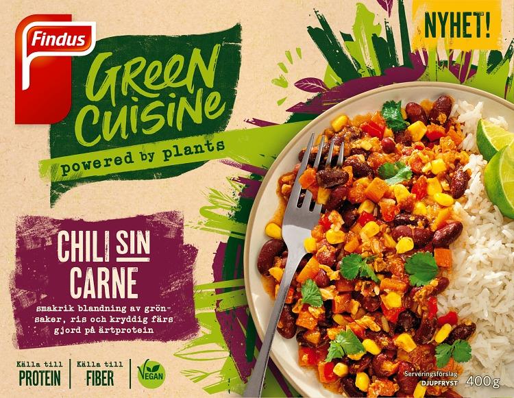 Förpackning Green Cuisine Chili sin Carne