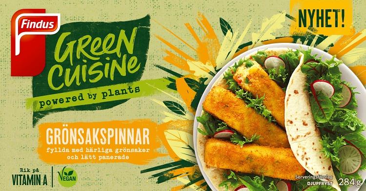 Förpackning Green Cuisine Grönsakspinnar
