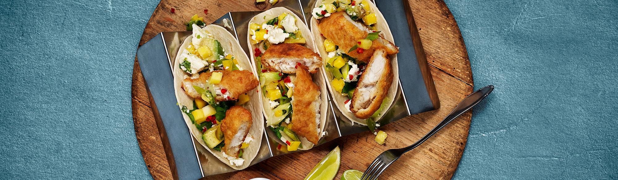 Fishtaco med åanerad fisk