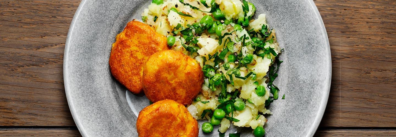 Morotsbiffar med grönsaksstomp