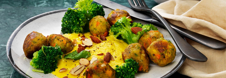 Grönsaksbullar med brocolli
