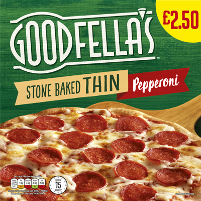 Goodfellas Stone Baked Thin Pepperoni PMP
