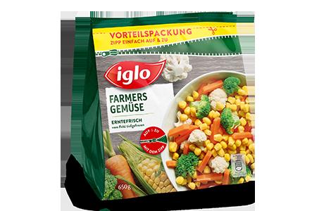 Tüte iglo Produkt Farmers Gemüse