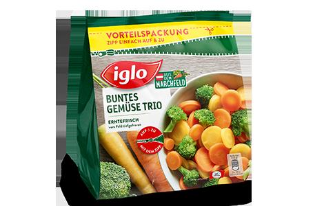 Tüte iglo Produkt Buntes Gemüse Trio