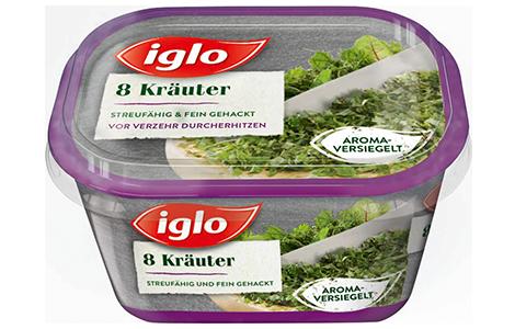 Packung iglo Produkt 8 Kräuter