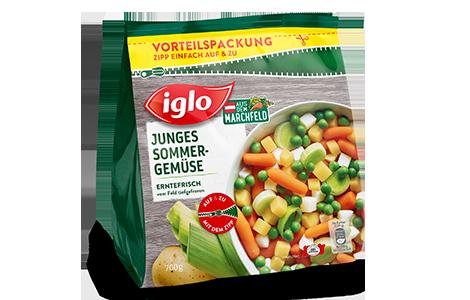 Tüte iglo Produkt Junges Sommer-Gemüse
