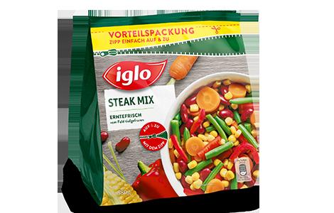 Tüte iglo Produkt Steak Mix