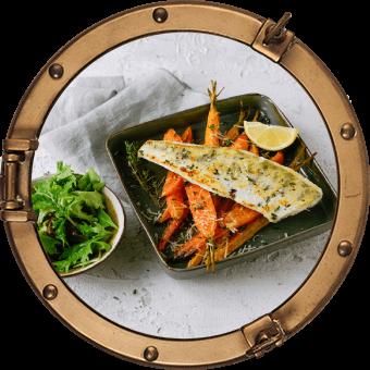 Zander mit gebratenen Parmesan Karotten